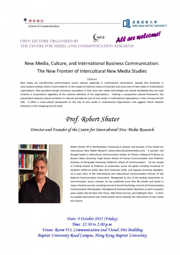 New Media, Culture, and International Business Communication The New Frontier of Intercultural New Media Studies